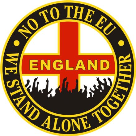 "England Car Sticker ""No To The EU"""